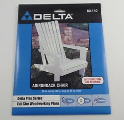DELTA Plan Series ADIRONDACK CHAIR Woodworking Pattern NEW IN PACKAGE Full Size