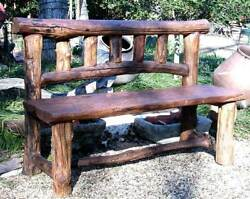 Smokey Mountain Rustic Bench with Log Back [ID 872]