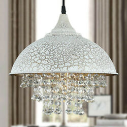 Industrial Retro Loft Large Chandelier Lamp Pendant Light with Hanging Crystal $59.99