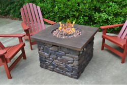 YOSEMITE II FIRE PIT - Propane Fireplace Heater Back Yard Patio Furniture