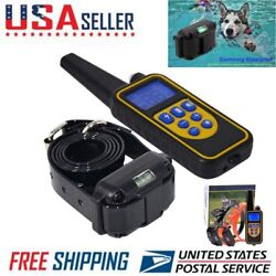 Electric Dog Training Collar Remote Shock Waterproof Rechargeable LCD 1000m US $31.62