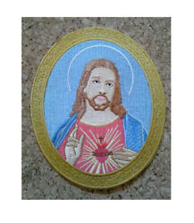 Sacred Heart Of Jesus - Church - Christian - Embroidered Iron On Patch