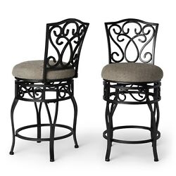 Bar Height Dining Chairs High Stool Bar Patio for Kitchen Counter Rustic Round