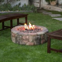 Stone Design Fire Pit Outdoor Home Patio Gas Fire pit Garden Patio Heater