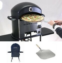 Blackstone Outdoor Pizza Oven + Cover and Pizza Peel Portable Outdoor Cooking