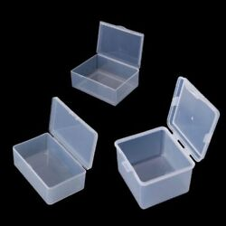 Rectangular Clear Plastic Storage Box Jewelry Collection Container Organizer