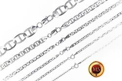 ITALY 925 SOLID Sterling Silver MARINER Chain Necklace or Bracelet  7