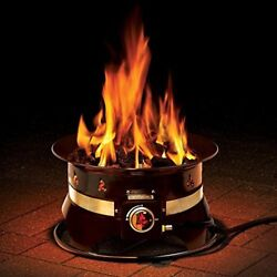 Portable Propane Gas Fire Pit with Cover & Carry Kit 58000 BTU Outdoor 19 inch