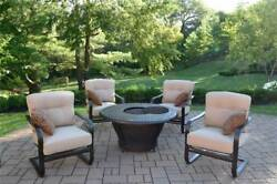 5-Pc Round Firepit Table Set [ID 3684335]