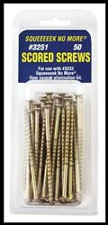 New 50 pk *SQUEEEEEK NO MORE* 3quot; Steel Floor Replacement Screws Stops Squeaks $16.71