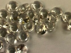 Topaz Faceted Natural Colorless 50 pieces Round 5 mm Cut Clarity IF Clean T160 $150.00