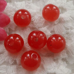 Free Ship 360pcs red acrylic loose round bead 10mm ZH155