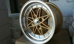 BRAND NEW WHEELS SET 4x114.3 15x7  OLD STYLE GOLD STAR RIVETS CHROME STYLE BBS