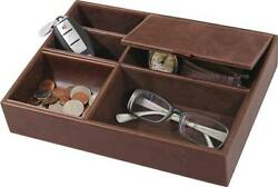 Grand Star Dresser Valet Brown Brown Leather for Multiple Items BRAND NEW