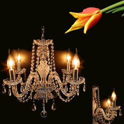 Modern Elegant Crystal Chandelier 4 Ceiling Light Lamp Pendant Fixture Lighting $46.41
