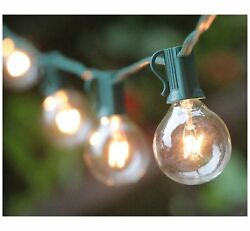 10Pack 100ft G50 Globe 125 Clear Bulb Outdoor Light String Patio Lights