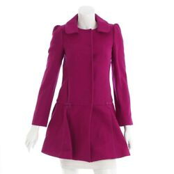AUTHENTIC RED VALENTINO RIBBON WOOL COAT PURPLE  GRADE A USED - AT