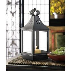 15 BLACK CARRIAGE STYLE COLONIAL CANDLE LANTERNS WEDDING CENTERPIECES 12