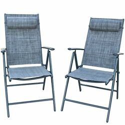 Adjustable Folding Recliner Chairs for Poolside Garden Lounge Patio Furnitures