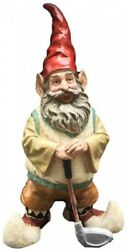 21 in. Golfer Gnome Holding Golf Club Collectible Statue Outdoor Sculpture Decor