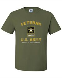 United States Army Veteran proud to have served Military Green Tee new T#x27;shirt $12.99