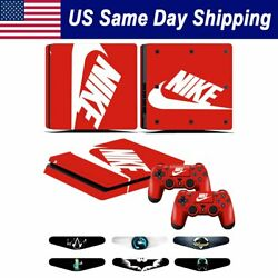 Sony PS4 Slim Vinyl Sticker Decal Game Console & 2 Controller Skin Cover N Logo
