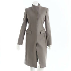 AUTHENTIC STELLA MCCARTNEY WOOL LONG COAT GREIGE GRADE A USED - AT
