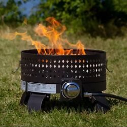 Small Fire Pit With Lid Portable Outdoor Camp Patio Propane Firepit Bowl Heater