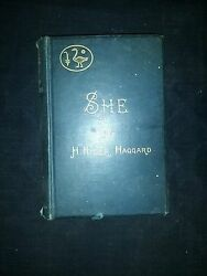 SHE A HISTORY OF ADVENTURE H. RIDER HAGGARD LONGMANS GREEN AND CO 1887