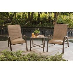 Outdoor Bistro Set 3 Pc Patio Furniture Backyard Garden Dining Table 2 Chairs