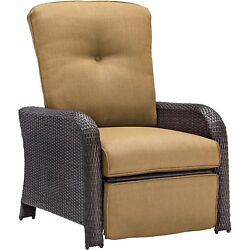 Atlantic Woven Reclining Outdoor Lounge Chair Country Cork Cushions