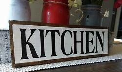 KITCHEN wood sign farmhouse kitchen wooden rustic family small 12.5quot; country $26.99