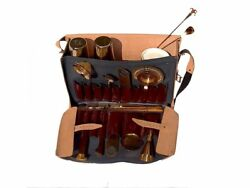 Leather Bartender Bag with Titanium Bar Tools