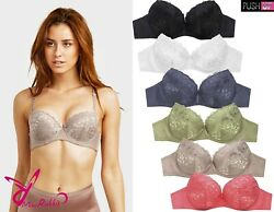 Lot of 6 ps Full Cup No Wire Wireless Lace Soft Padded Bras 32B-38B 34C-40C Bra