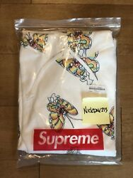 Supreme Gonz Butterfly Hoodie Medium Off White DS New In Plastic