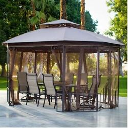 Gazebo Tent House Pergola Canopy Cover Kit Curtain Shade Outdoor Patio Furniture