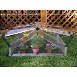 Cold Frame for Double Greenhouse Aluminum Frame Clear Polycarbonate Roof Panels