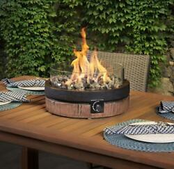 Outdoor Tabletop Gas Fire Pit Patio Table Top Propane Rustic Fireplace Bowl New
