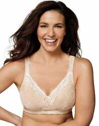 Playtex 18 Hour Perfect Lift Bra Wirefree Inner UBoost Panels Lace tru Support $16.99
