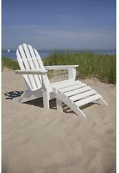 Classic White Plastic Patio Adirondack Chair Outdoor Patio Furniture Backyard