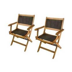 Outdoor Patio & Garden Sea Breeze Folding Armchair - Set of 2 [ID 2260492]