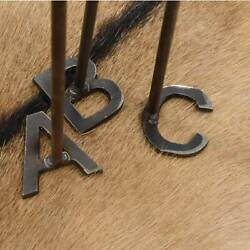 Alphabet Branding Irons Steak Brand Western Cowboy Letters A-Z Available