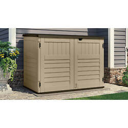 Toter Trash Can Shed Sand 70 Cu Ft capacity Padlock Ready Low Profile Design NEW