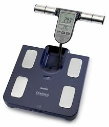 OMRON BF 511 Body composition scale Fat Meter Memory Family Blue New Original C $279.00