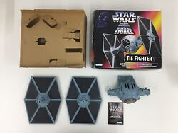 STAR WARS POWER OF THE FORCE POTF IMPERIAL TIE FIGHTER OPEN KENNER 1995