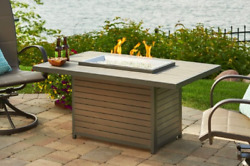 Outdoor GreatRoom Company Brooks Fire Pit Table Outdoor Heater Patio Furniture
