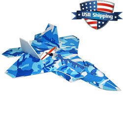 24in Foamboard F 22 Pusher Jet RC Plane Kit with Airfoiled Wing Stiffer than EPP $39.00
