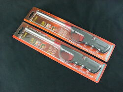 Twin Pack Click-n-Flame Classic Refillable Long Lighters Grill Fireplace Candles