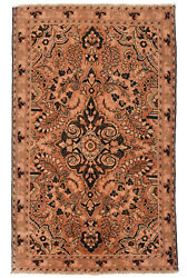 Vintage Oriental Malayer Rug 4#x27;x7#x27; Coral Brown Hand Knotted Wool Pile $448.20