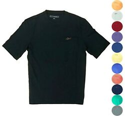 Greg Norman Men#x27;s Casual T Shirt with Chest Pocket 17 Colors You Pick $13.95